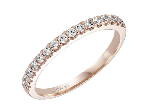 14k Rg Shared G Band 1 3 Ctw Si2 H 001 110 00467 Women S Diamond Wedding Bands From The Ring Round Rock Tx