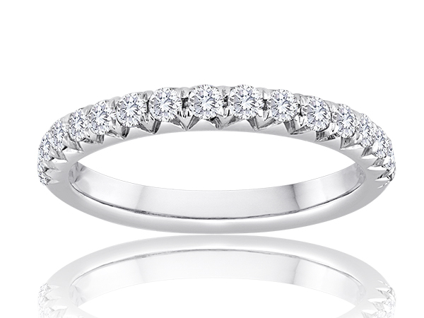 Fishtail Diamond Wedding Band 1/2ctw by Imagine Bridal