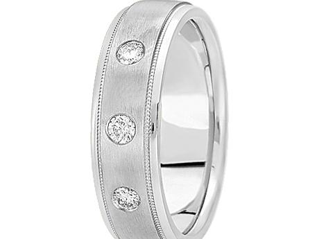 WG 1/5 ctw Burnished Diamond Band by Unique settings