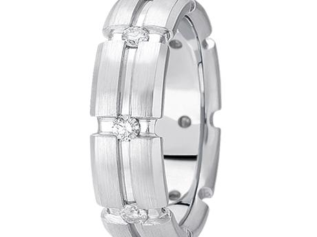 White Gold Diamond Gents Band by Unique settings