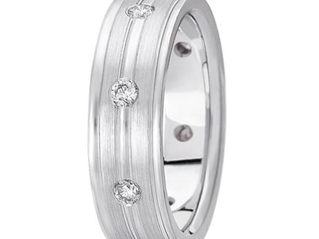 White Gold 1/2 ctw Diamond Band by Unique settings