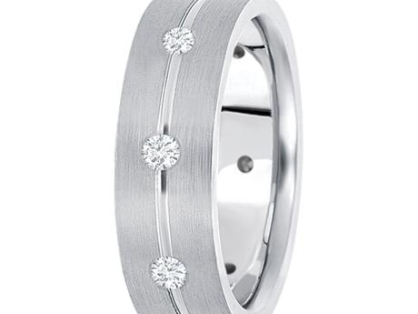 7mm White Gold 1/2 ctw Diamond Band by Unique settings