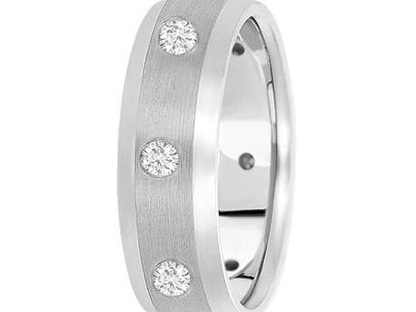 White Gold 7mm 1/2 ctw Diamond Band by Unique settings