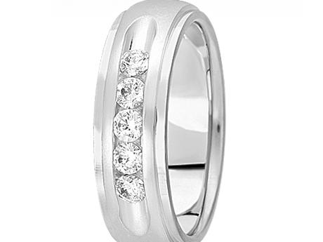 Classic 1/2 ctw Channel Set Diamond Band by Unique settings