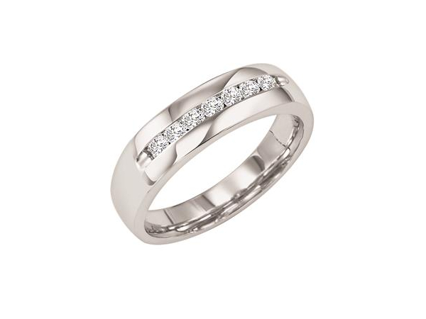 Classic 1/3 ctw Channel Set Wedding Band by Artcarved Men