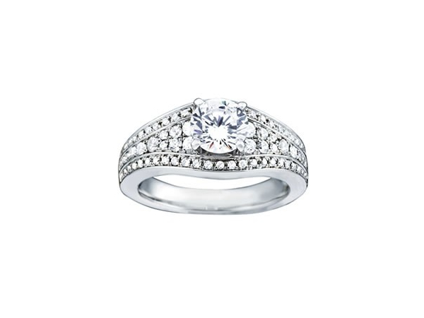 Four row diamond engagement ring by Overnight