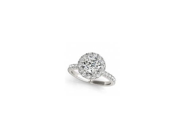Classic halo engagement ring by Overnight