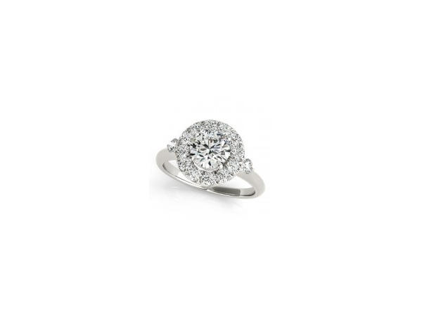 Diamond Halo Engagement Ring by Overnight
