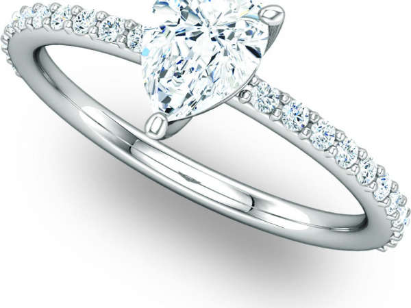 Classic White Gold Engagement Ring by Ever & Ever