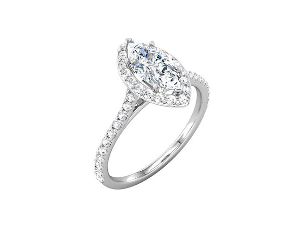 Marquis Halo Engagement Ring by Stuller
