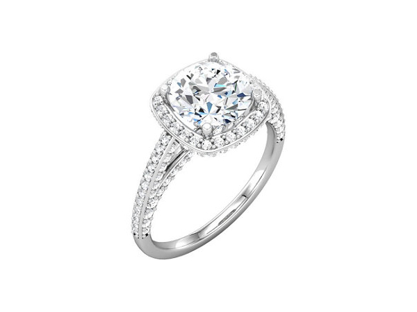 Diamond Halo Engagement Ring by Stuller