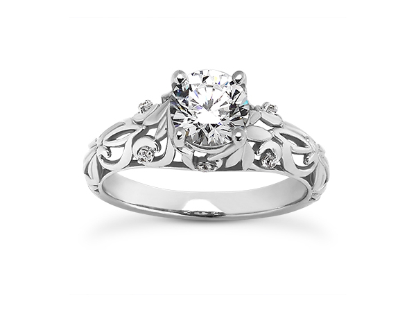 Filigree engagement ring by Unique Settings