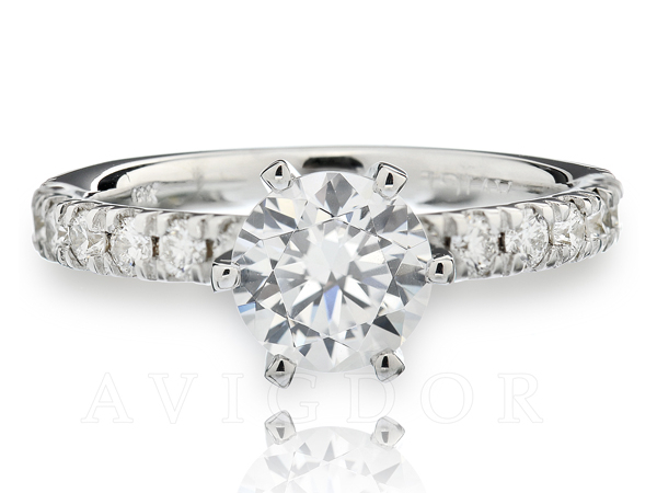 3/8ctw classic prong set diamond engagement ring by Avigdor