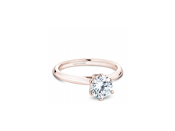 RG 6 Prong Crown with Peek-a-Boo Diamond Engagement Ring by Noam Carver