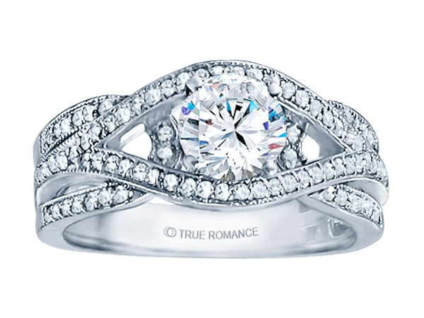 14K WG/RG 3/8 ctw Fancy Engagement Ring by True Romance