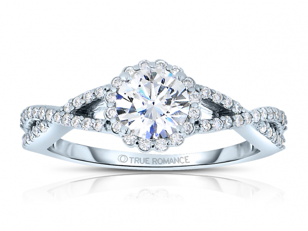 14K RG 1/3 ctw Halo Infinity Engagement Ring by True Romance
