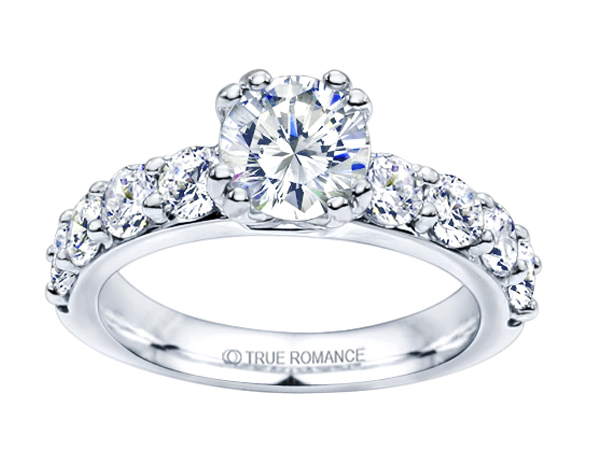 14K WG 1/2 ctw Classic Diamond Engagement Ring by True Romance