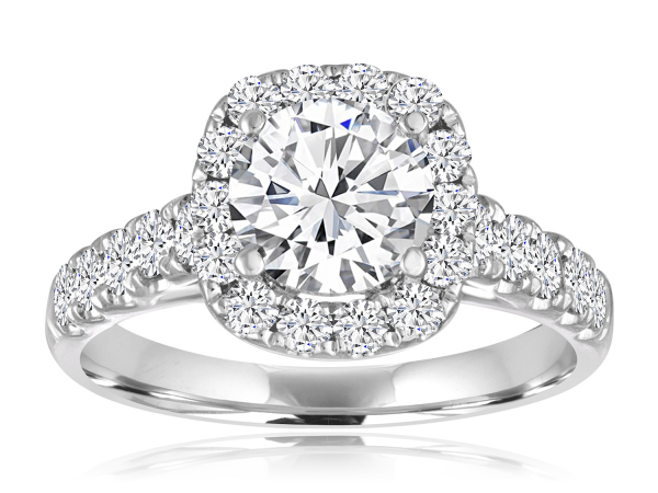 Cushion Halo Engagement Semi Mount 4/5ctw by Imagine Bridal