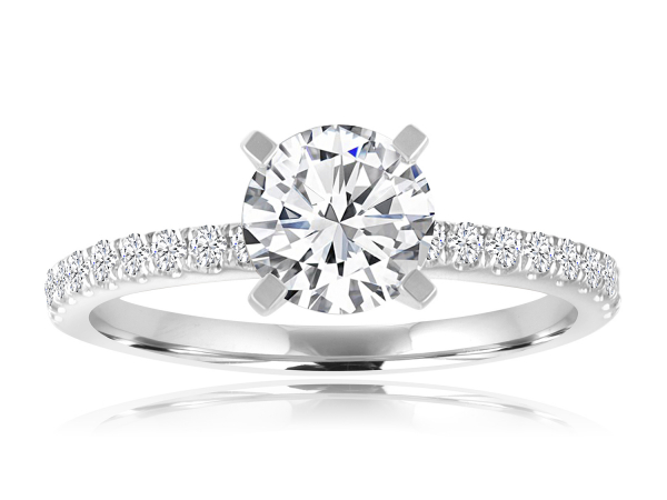 French Pave Engagement Semi Mount 3/4ctw by Imagine Bridal
