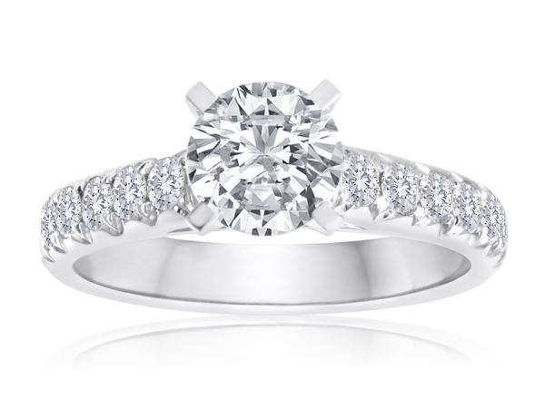 Round Fishtail Engagement Semi Mount 1/2ctw by Imagine Bridal