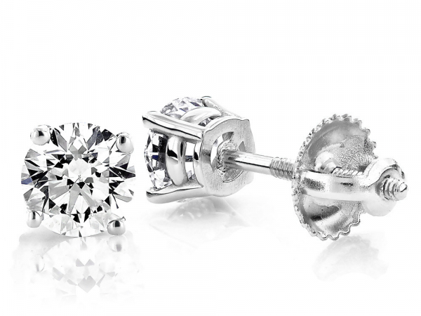 .50cttw Round Diamond Stud Earrings by Stuller
