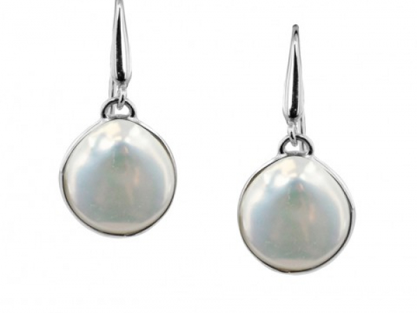Sterling Coin Pearl Cloud Earrings by Honora