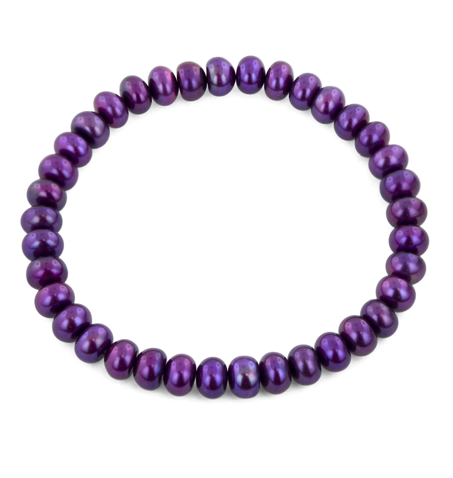 Classic Stretch Grape Pearl Bracelet by Honora