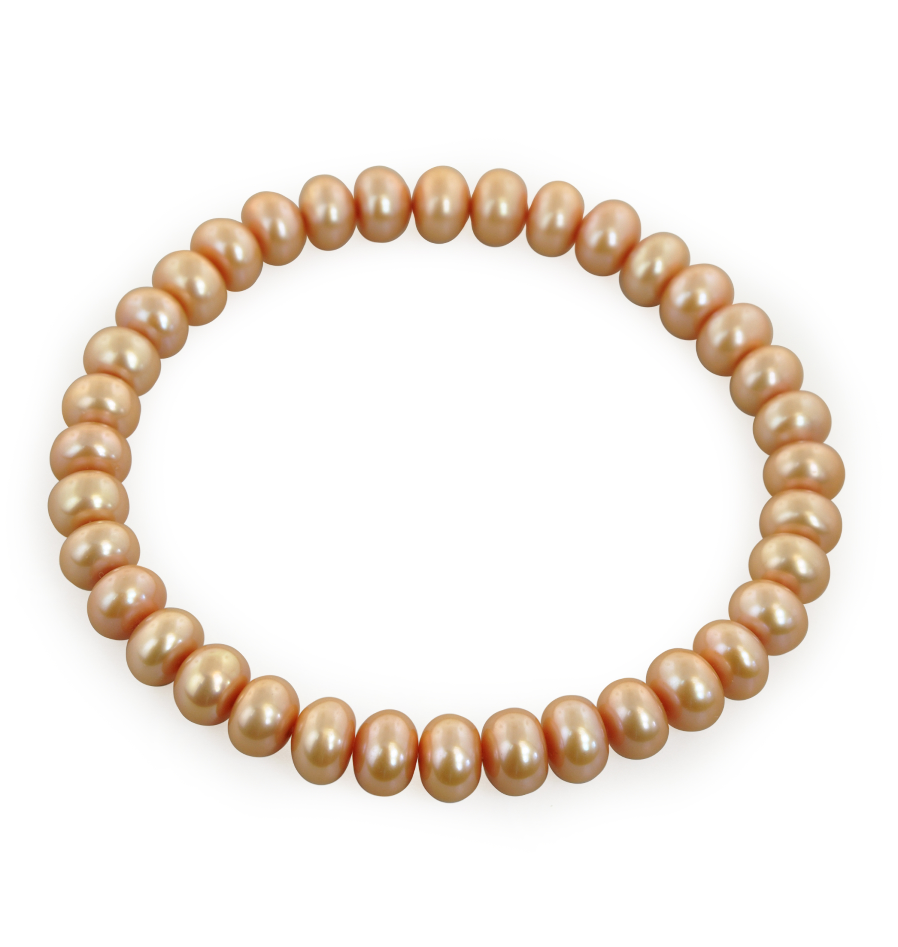 Classic Stretch Mocha Pearl Bracelet by Honora