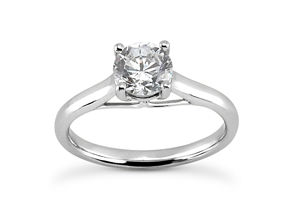 Four Prong 2mm Solitaire Engagement Ring by Unique Settings
