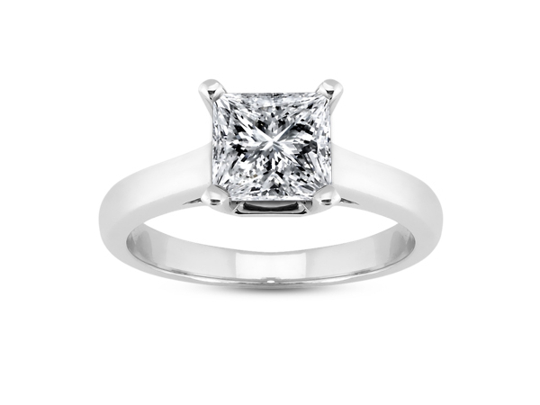 Square Stone Solitaire Engagement Ring by Unique Settings