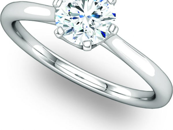 Fancy Size Prong Crown Solitaire Ring by Ever & Ever
