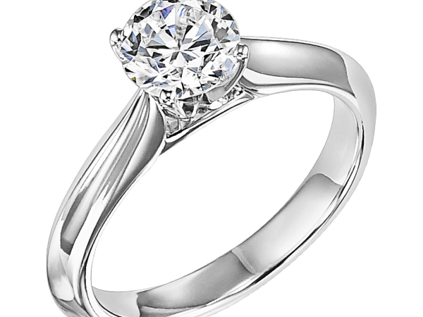 Cathedral Solitaire Engagement Ring by Frederick Goldman