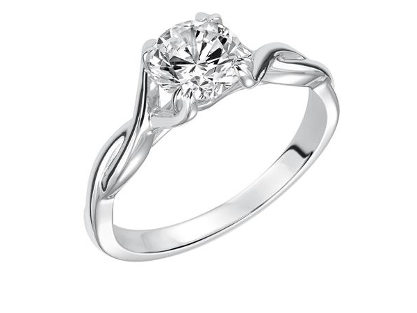 Twisted Shank Solitaire Engagement Ring by Frederick Goldman