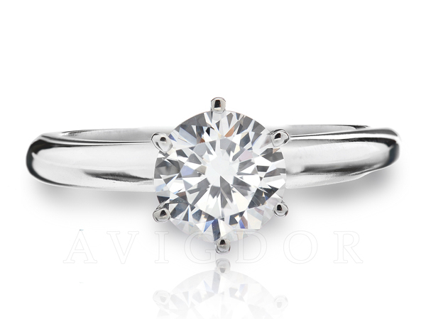 Six Prong Crown Solitaire by Avigdor