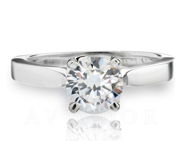 Tulip Crown Solitaire Engagement Ring by Avigdor