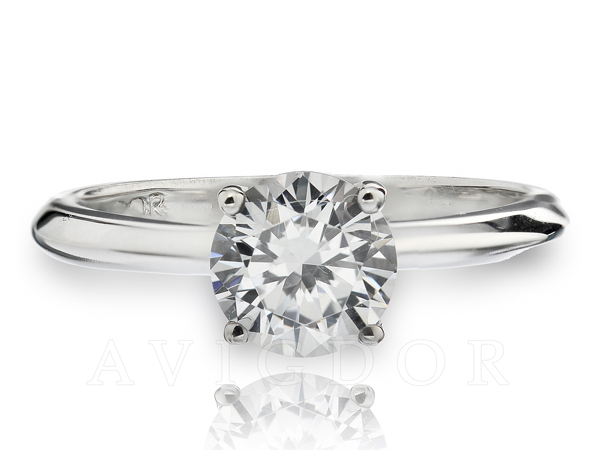 Fancy Crown Solitaire Engagement Ring by Avigdor