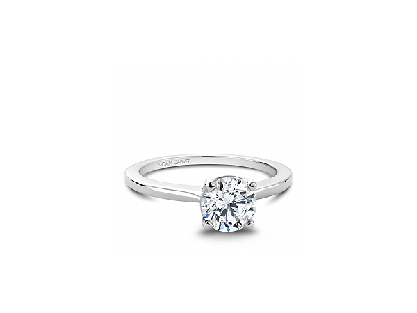 14k WG Solitaire Engagement Ring for a Round Center by Noam Carver