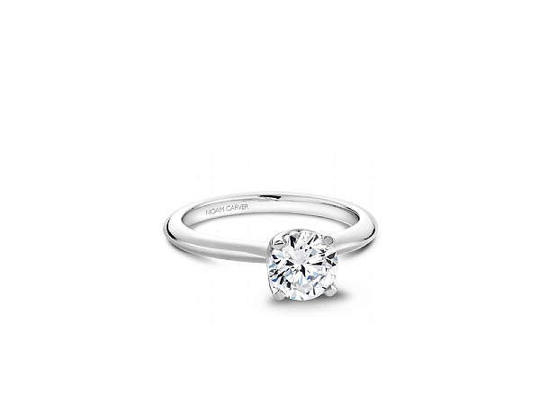 14k WG Four Prong Round Solitaire by Noam Carver