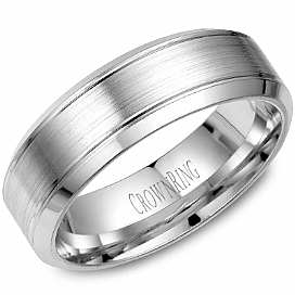 WG 7mm Brushed Center Band by Crown Ring