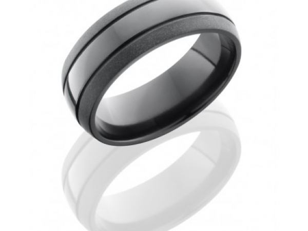 8mm Zirconium Band by Lashbrook Designs