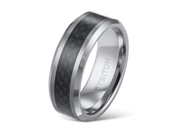 8mm Tungsten Band with Carbon Fiber Center by Triton