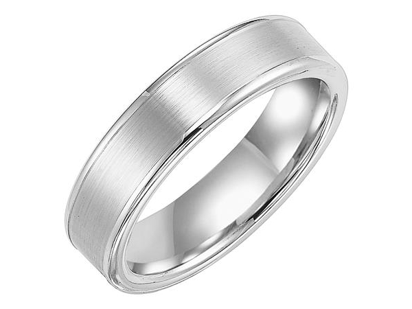 6mm Flat Tungsten Band with Satin Finish by Triton