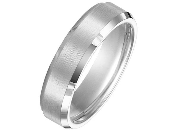 6mm Tungsten Band with Beveled Edges by Triton