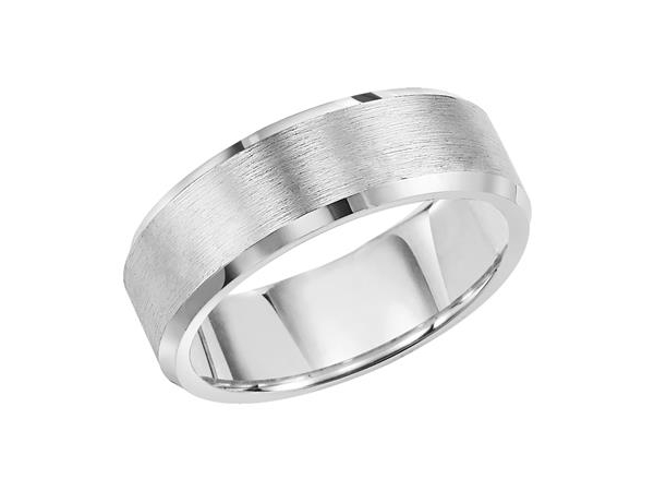 8mm Tungsten Beveled Edges Satin Finish Band by Triton
