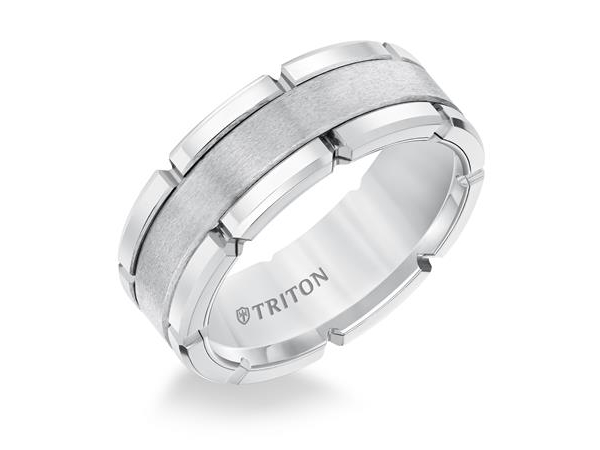 8mm Tungsten Satin Finish Center by Triton