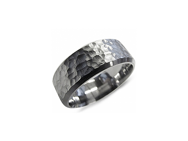 8mm Hammered Titanium Band by Torque