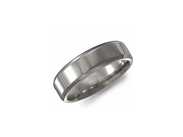 6mm Polished Titanium Ring by Torque