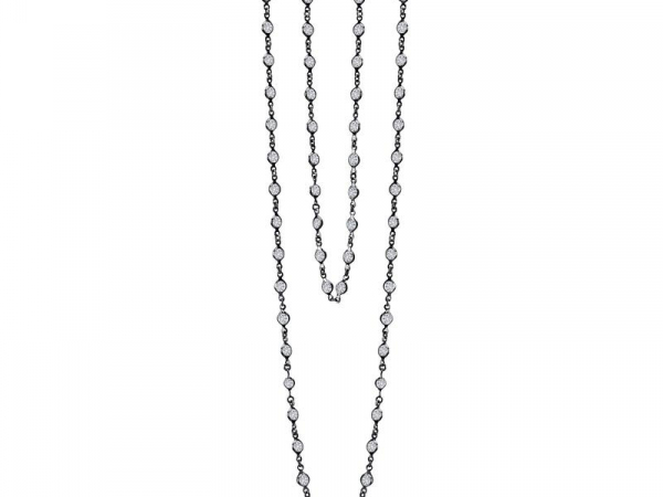 "36"" CZ and Black Rhodium Necklace by Lafonn"