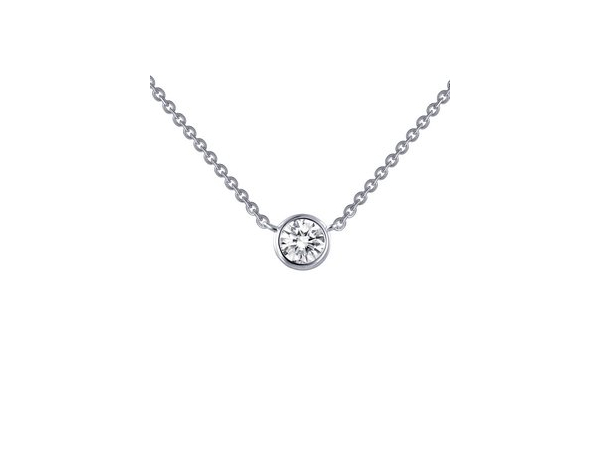 Stationary Bezel Set Solitaire Necklace by Lafonn