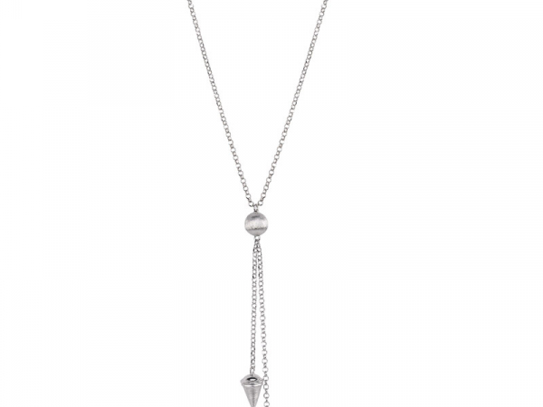 "Sterling Silver LePointe necklace 22"" long by Frederic Duclos"